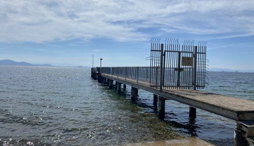 松の浦水泳場に隣接する志賀浜(琵琶湖)は透明度の高い穴場ビーチです。家族で泳げるスポットです。車も無料で駐車できますよ~。